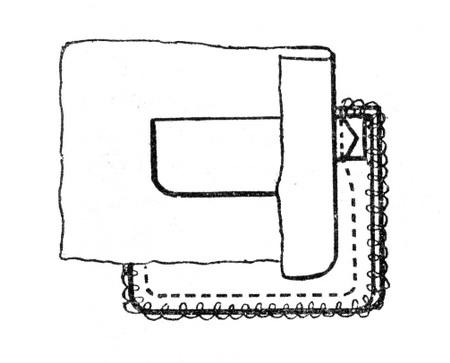 Обработка прорезного кармана с