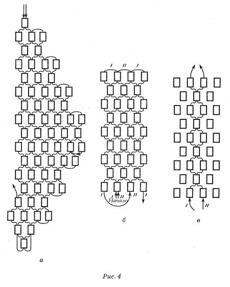 Берёзовые серёжки из бисера