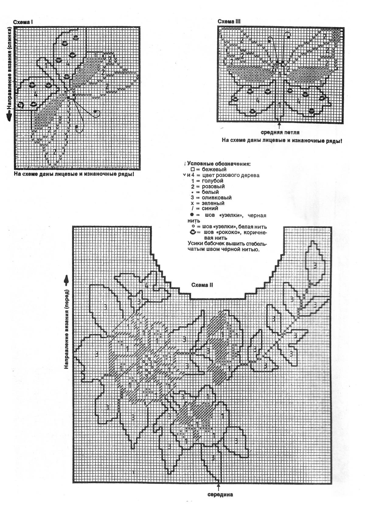 Вязание бабочек спицами схемы и описание 27