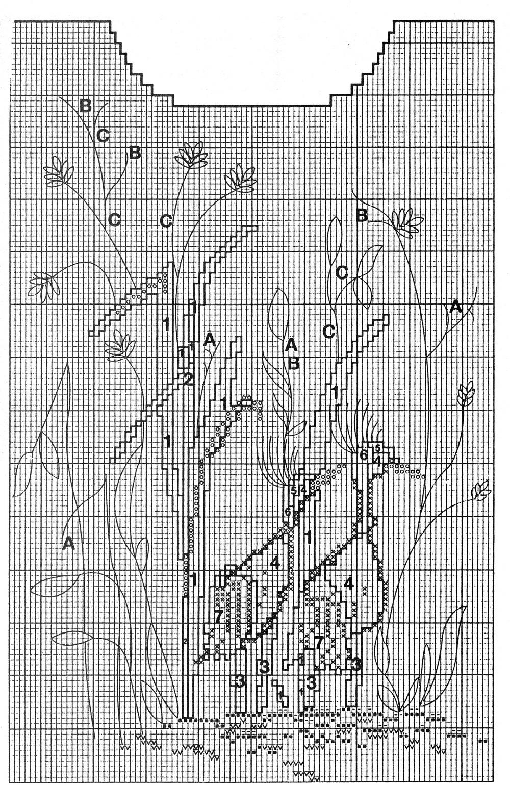 Филейное вязание в стиле бохо крючком схемы и описание 54