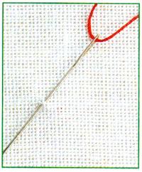 Вышивка крестом закрепление нити нечетное